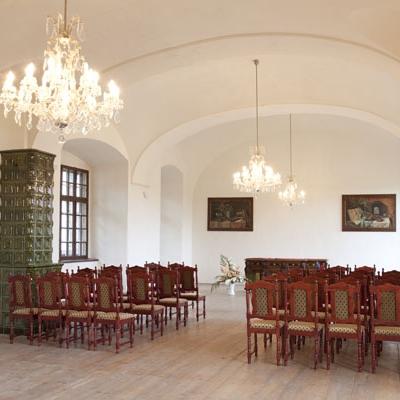 Dlouhý sál zámku Bučovice (Foto: Miroslav Šubrt)