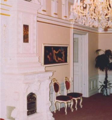 Svatební síň v barokním slohu