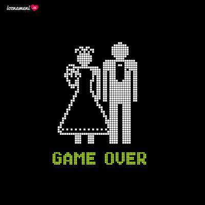 Svatební oznámení GAME OVER